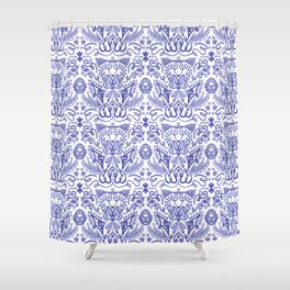 Blue and White Dreams - Chinoiserie  Shower Curtain