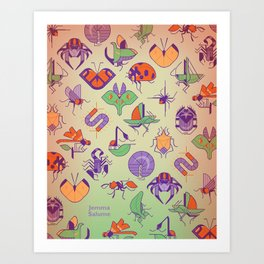 Creepy Crawlies Art Print
