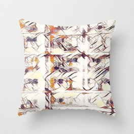 Homage to Kandinsky, with Watercolors Throw Pillow