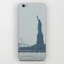 Statue of Liberty from Manhattan iPhone Skin