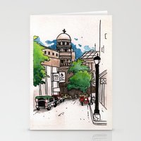 philippines Stationery Cards featuring Philippines : Santa Cruz Church by Ryan Sumo
