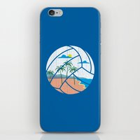 volleyball iPhone & iPod Skins featuring Beach Volleyball by Erik Sandi Satresa