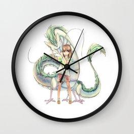 Chihiro and Haku Wall Clock