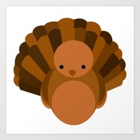 turkey Art Prints featuring Turkey by StephyLe