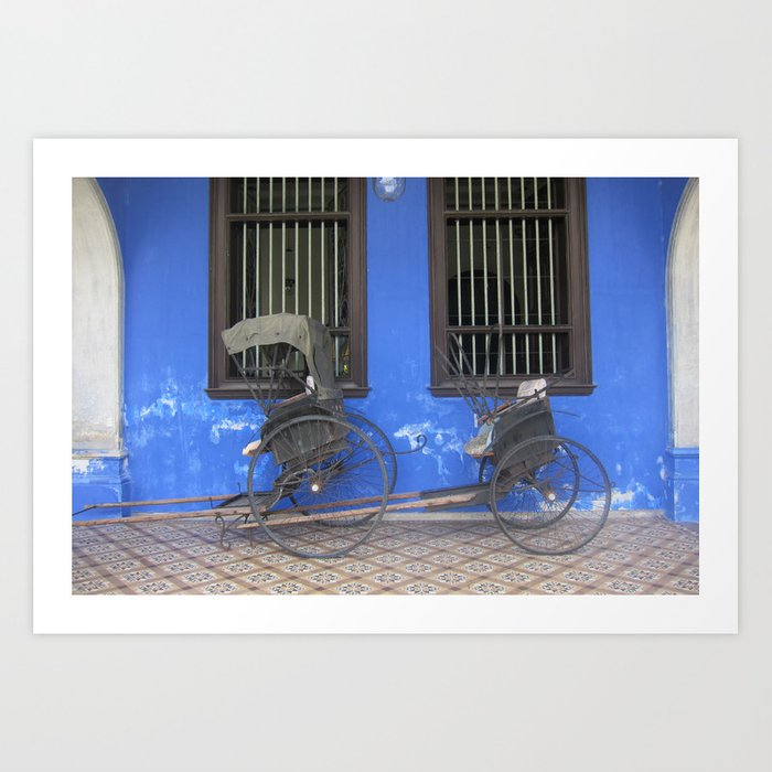 Blue Mansion in Penang, Malaysia (2013a) Art Print