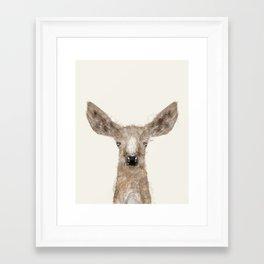 little deer fawn Framed Art Print