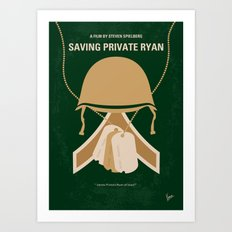 No520 My Saving Private Ryan minimal movie poster Art Print