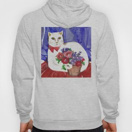 Cozy Cat and Flower Basket Hoody
