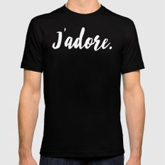 j'adore Mens Fitted Tee Black MEDIUM