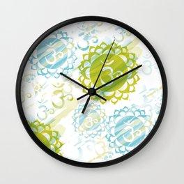 Om Green Wall Clock