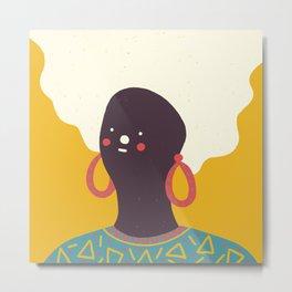 Colorful Girl Metal Print