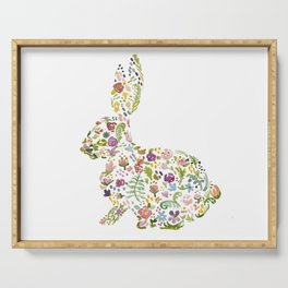 Springtime Flower Bunny Serving Tray
