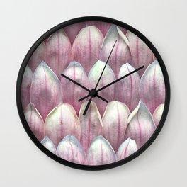Magnolia Blossom in Blush Wall Clock