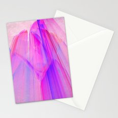 Pink sunset in the glowing city Stationery Cards