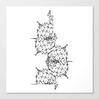 dna Canvas Prints featuring DNA by kartalpaf