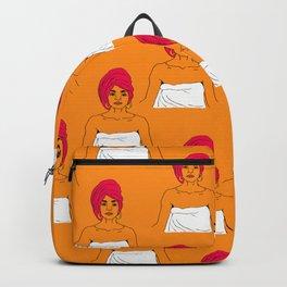 Cherry Pie Pattern in Orange Backpack