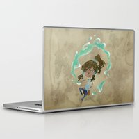 chibi Laptop & iPad Skins featuring Chibi Korra by Serena Rocca