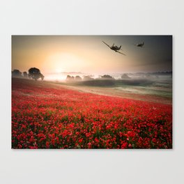 Poppy Spitfire Canvas Print