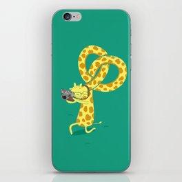 A Giraffe Photographer iPhone Skin