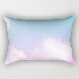 Pink Summer Clouds Rectangular Pillow