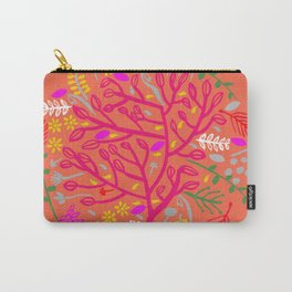 Folk Tree Carry-All Pouch