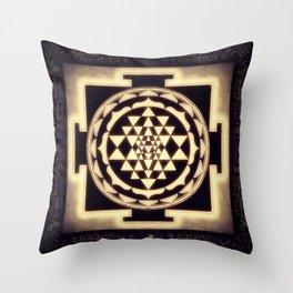 Sri Yantra XVII - Diffuse Light Throw Pillow