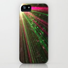 Holiday laser burst iPhone Case