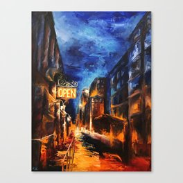 """Leaving New York"" Painting Canvas Print"