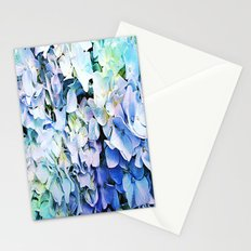 Soft Tri-Color Pastel Hydrangea Stationery Cards
