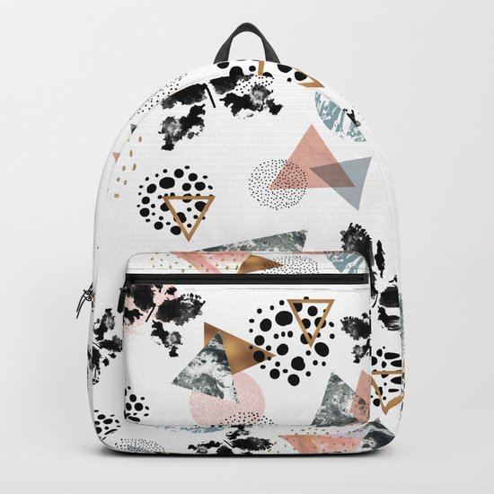 Abstract butterfly and geometric Backpack