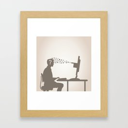 Computer and the person Framed Art Print