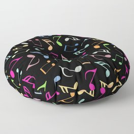 Music Colorful Notes II Floor Pillow