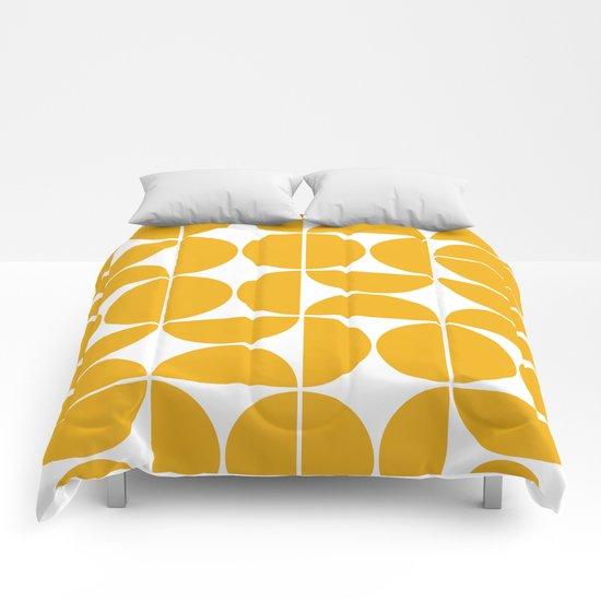 Mid Century Modern Geometric 04 Yellow by theoldartstudio