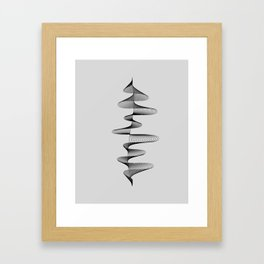 Abstract 80s Soundwave Art Music Audio black and white Musical design home wall bedroom decor Art Pr Framed Art Print