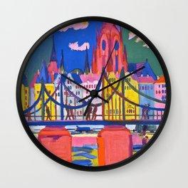 12,000pixel-500dpi - The Frankfurt Cathedral - Ernst Ludwig Kirchner Wall Clock