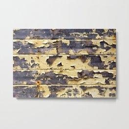 Peeling Yellow Paint Metal Print