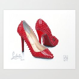 Spiked Pumps Painting Art Print