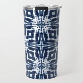 Watercolor Shibori Indigo Travel Mug