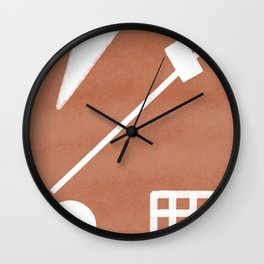 Abstract shapes composition in terracotta Wall Clock