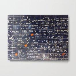 La mur d'amour Metal Print