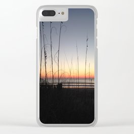 Sunrise oats Clear iPhone Case