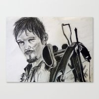 daryl dixon Canvas Prints featuring Daryl Dixon by Brittany Ketcham