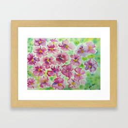 Pink flowers - watercolor Framed Art Print