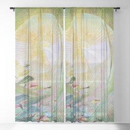12,000pixel-500dpi - Japanese modern interior art #61A Sheer Curtain