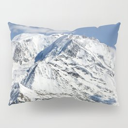 Mt. Blanc with clouds Pillow Sham