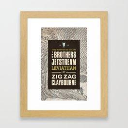 Brothers Jetstream Framed Art Print