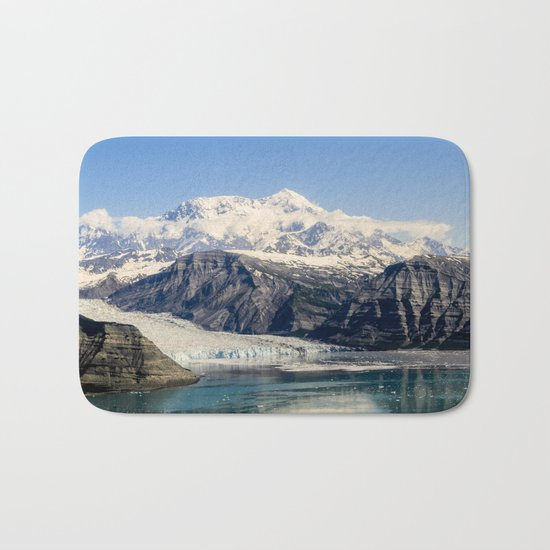 Mountain Lake Landscape Bath Mat