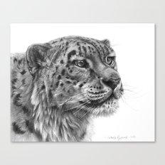 Snow Leopard G095 Canvas Print