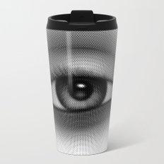 Halftone Eye Metal Travel Mug