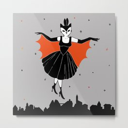 Flying over the city Metal Print